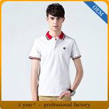 T-shirts de polo brodés par coton fait sur commande de Mens de qualité