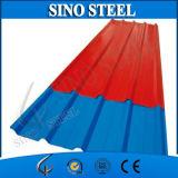 Chapa de aço telhando galvanizada Prepainted ondulada trapezoidalmente de PPGI