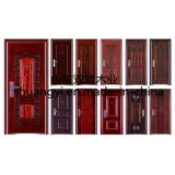 Горячая входная дверь самомоднейшей конструкции твердой древесины сбывания
