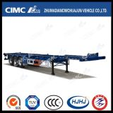 Air Suspension를 가진 40FT 3axle Single Tire Skeleton Container Semi Trailer