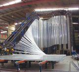 Perfil material de alumínio de vidro do alumínio da construção da parede de cortina