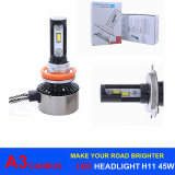 차 헤드라이트, 안개등을%s LED 전구 45W 6000lm Canbus A3 LED 헤드라이트 H11