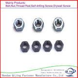 2017 noix Hex et tache de vente de bonne qualité de zinc en acier chaud de Finined pour le type noix