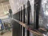 La valla de seguridad de la guarnición artesona el polvo cubierto polvo electrostático de Interpon de la marca de fábrica de Akzol Nobel del polvo negro de la anchura de 2100m m x de 2400m m