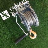 guincho da mão da corda de fio 800kgs de aço para levantar