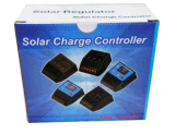 Contrôleur système solaire d'alimentation par batterie de régulateur de PWM 12V 24V 20A avec le voltmètre