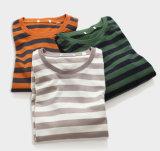 Camisolas listradas personalizadas do pulôver do algodão básico dos homens