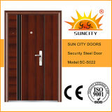 China Steel puerta baja precios Fotos parrilla de acero Puerta de diseño (SC-S022)