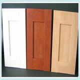 porta de gabinete do MDF do PVC Thermofoil de 18mm para a mobília