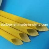Fibre de verre Individu-Extinguible de silicones d'homologation d'UL gainant pour les fils électriques
