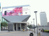 Visualizzazione esterna della parete di P12 LED video LED che fa pubblicità al tabellone per le affissioni
