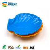 Оптовые BPA освобождают тарелки суш силикона формы раковины