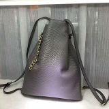 高品質のくまのアクセサリEmg5153が付いている革ショッピングバケツのハンドバッグの女性ショルダー・バッグ