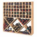 Кубик вина твердой древесины плана фабрики для мебели стойки индикации