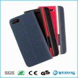 Caisse de téléphone de chiquenaude de cuir de mode pour l'iPhone 7/7 positifs