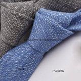 Relation étroite teinte par plaine de toile colorée pure chaude de cravate de Customed de mode de vente