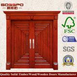 Madeira maciça Porta de entrada moderna Porta de entrada Porta de segurança (XS1-021)