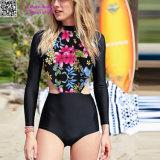Longs vêtements de bain surfants coupés par Florals L32604 de chemise