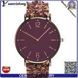 Orologi su ordinazione di stile dell'orologio di cuoio di lusso della vigilanza della mano di colore degli uomini di cassa dell'acciaio inossidabile della vigilanza di signore di moda di Yxl-051 Promotioan