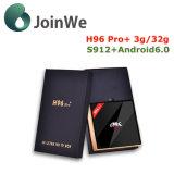 H96 elegante FAVORABLE más el rectángulo androide de 3G+32g Amlogic S912 Ott TV para promoción tiempo el 24to 30 de julio