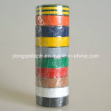さまざまなカラー範囲の品質PVCヨーロッパの市場(0.13mmx15mmx10m)のための電気絶縁体テープ
