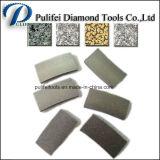 Segment fendu de diamant de découpage de pierre de marbre de lame de granit de couteaux