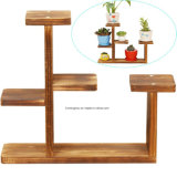 木のテーブルトップのプラント立場装飾的なプランターホールダーの家庭内オフィスのためのデスクトップの植木鉢ラック棚