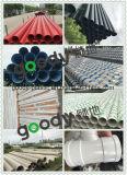Silence spiralé creux de la sucrerie PVC-U de drain