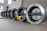 CF8mすべてステンレス鋼のゴム製シートの蝶タイプ無返還弁