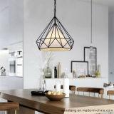 Einfacher moderner Flur, der hängende hängende Lampe speist