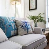 Cuscini rustici di tela del cotone costoso per i sofà che decorano