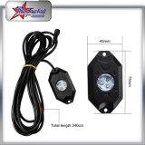 Nécessaire de lumière de roche des cosses RVB DEL du prix usine 4/6/8/12 avec le contrôle de Bluetooth