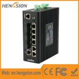 5 Tx 3 Fx e de rede industrial portuário de 2 SFP interruptor