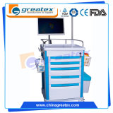 Carrello senza fili di professione d'infermiera della stazione di lavoro del carrello dell'ABS mobile dell'ospedale (QNT-7201A)