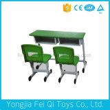 실내 아이 교육 장비 아이들의 두 배 책상 및 의자 (상승 유형)