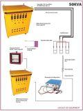 máquina móvil del tratamiento térmico de la autógena del poste del transformador de la fuente de energía 100kVA