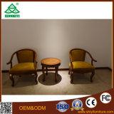 Projeto da mesa de centro e das cadeiras de Samll da madeira de carvalho