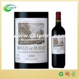 Kundenspezifische Druckpapier-Wein-Kennsätze mit Deboss beendeten (CKT-LA-380)