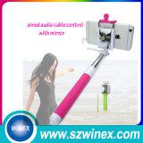 Mini palillo de Selfie del cable de Monopod del arco iris de lujo universal para el IOS androide