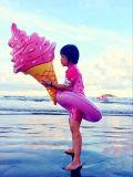 36 인치 아이스크림 콘 고정되는 수영장 팽창식 수영장 부유물