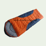 La couleur mélangée par chapeau de pongé enveloppent le sac de couchage