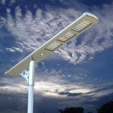 Lumière solaire de la rue DEL de batteries rechargeables d'horizontal solaire de réverbère 12 heures