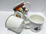 Taza caliente del esmalte de la venta con la taza de la leche de la taza de café de la mano del esmalte