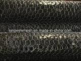 Kohlenstoffarme Draht heißes BAD galvanisierte sechseckige Draht-Filetarbeit
