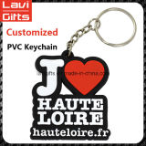 PVC al por mayor Keychain de la aduana de la alta calidad