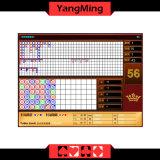 2016 rote Farbebaccarat-Kasino-System/mit Standardbegrenzungs-Zeichen-Schürhaken-Tisch der Reslut Bildschirmanzeige Ym-Ec01
