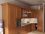 Modules de cuisine classiques en bois solide de meubles de cuisine