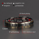 Moda energía de la salud del acero inoxidable 316L pulseras magnéticas para los hombres
