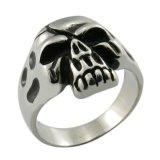 De zuivere Juwelen van de Ring van de Schedel van het Metaal Hoofd