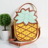 De nieuwste Leuke Handtas van de Ananas van de Botsing van de Kleur van de Manier van de Zak van het Stro van het Ontwerp met Regelbare Riem T108